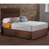 Woolacombe Divan Drawer Bed With Mattress - Chocolate / 2 / Single