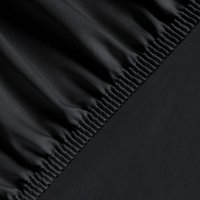 Silky Satin Fitted Bed Sheet King - Black