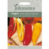 Pack of Sweet Corno Di Toro Mixed Pepper Seeds