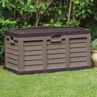 Starplast 440L Garden Storage Utility Chest - Chocolate and Mocha