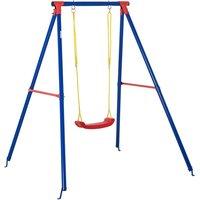 Kids Metal Single Swing  - Blue