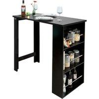SoBuy Kitchen Breakfast Bar Table Dining - Black