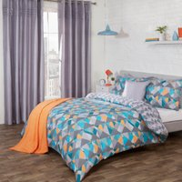 Oasis Printed Duvet Cover and Pillowcase Set - Dark / King