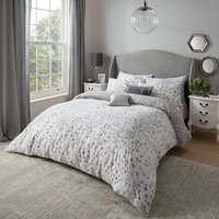 Sam Faiers Deliliah Duvet Cover and Pillowcase Set - Silver / King