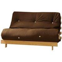 Chocolate and Cream 4ft Premium Luxury Futon Wooden Sofa Bed