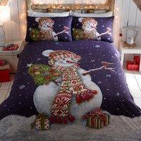 Happy Snowman Duvet Set - Multi / Double