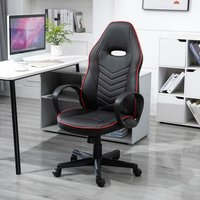 Home Office High Back Chair  - Black and Red