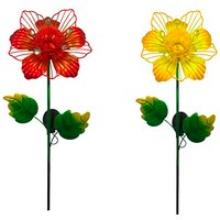Solar Assorted Floral Stake Light
