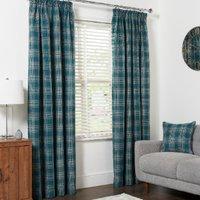 Hadley Check Curtains - Teal / 229cm