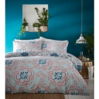 Morocco Duvet And Pillowcase Set - Teal / Single