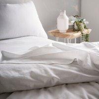 Portfolio Home Aspect Fitted Sheet - White / Super King