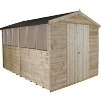 Overlap Pressure Treated Apex Double Door Shed 8 x 12