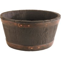 Oakwood Effect Barrel Planter