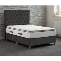 Jonas and James Chatsworth Divan Bed Set With Mattress - Steel / 4 / Single