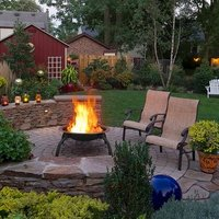 Folding Fire Pit with BBQ Cooking and Wood Grill