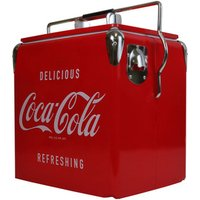 Coca-Cola Retro Ice Chest Cooler with Bottle Opener 13L -
