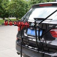 Foldable 3 Car Mount Bicycle Rack - Black, Red