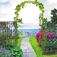 Metal Decorative Garden Rose Arch  - Black Bronze