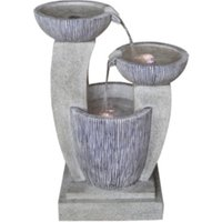 Three Drop Marble Effect Water Feature - Grey