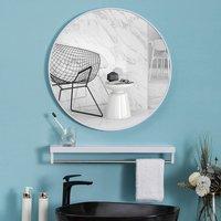 Round Wall Mirror  - White / 70cm