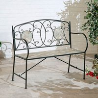 Mosaic Two Seater Bench  - Grey