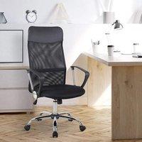 'Swivel Office Chair Mesh Fabric Executive Chair  - Black