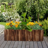 Raised Flower Bed Wooden Planter - Natural wood colour / 100