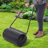 Heavy Duty Garden Lawn Roller - Black