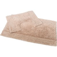 San Marino 2 Piece Cotton Bath and Pedestal Mat Set - Sand