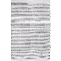 Ribbed Stripe White Cotton Runner - 60cm