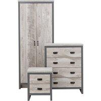Boston 3 Piece Bedroom Set - Grey