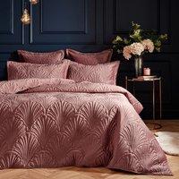 Quilted Velvet Duvet Cover Set - Cotton Polyester / 228cm / King