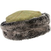 Ladies Tweed Hat with Fur Trim