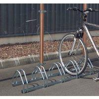 5 Bike Cycle Rack  - Silver