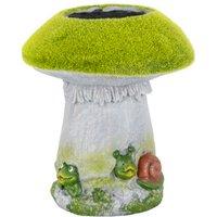 Flock Mushroom Planter with Frog