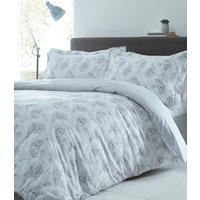 Hestia Duvet Cover and Pillowcase Set - Silver / Double