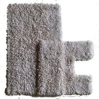 Luxurious Twist Bath Mat Set - White