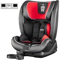 Excalibur Group 1-2-3 25kg Harnessed Car Seat - Black Red