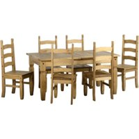 Corona Extending Dining Set with 6 Chairs