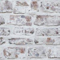 'White Washed Brick Wallpaper