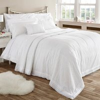 Balmoral Duvet Cover and Pillowcase Set - White / Super King