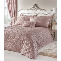 Bentley Duvet Cover and Pillowcase Set - Blush / Super King