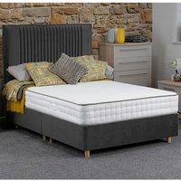 Jonas and James Hadleigh Divan Bed Set With Mattress - Steel / Single / 2