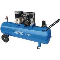 Draper Air Compressor With Belt Driver 3Hp 200Ltr