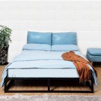 Extra Strong Metal Platform Bed Frame - Black / Double