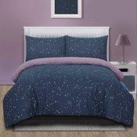 Interstellar Duvet Cover and Pillowcase Set - Mauve / Single