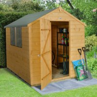 6 x 8ft Shiplap Dip Treated Apex Shed with Windows