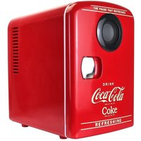 Coca-Cola Mini Cooler and Warmer with Bluetooth Speaker 6 Can - Red