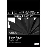 Pack of 30 Daler-Rowney Canford Black Paper Pad - A4