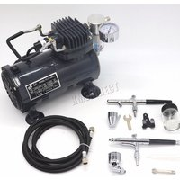 Switzer AS18 Airbrush With Compressor - Grey